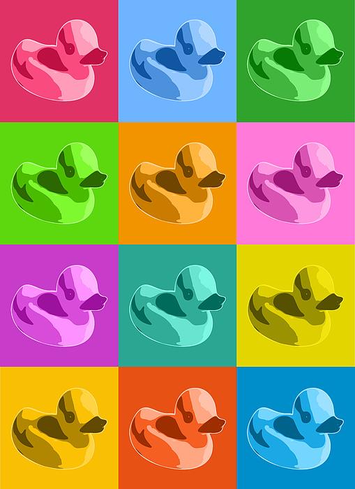 Rubber Ducks Print by Michael Tompsett