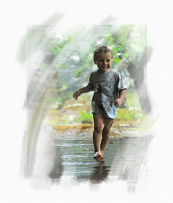Runnin' In The Rain Print by Cliff Hawley