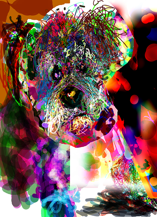 Sad Dog Print by James Thomas