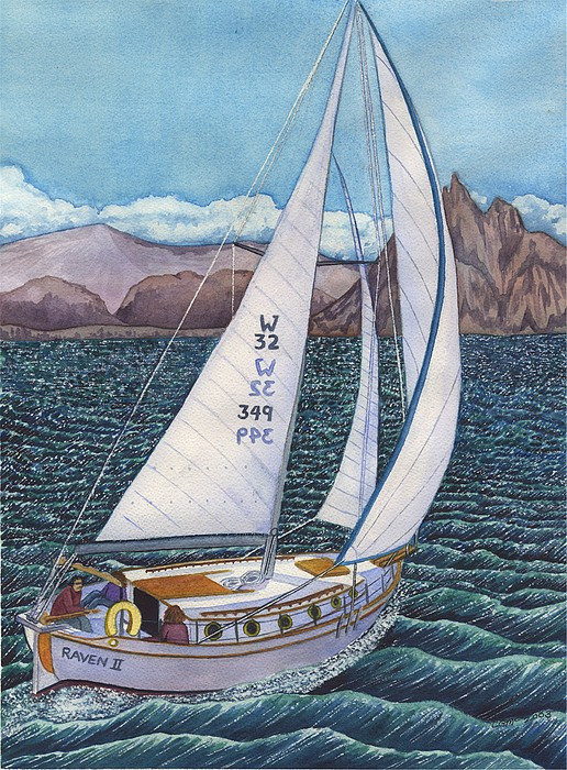 Sailing Print by Catherine G McElroy