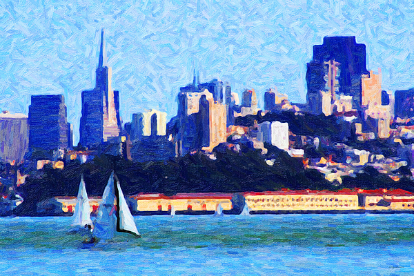 Sailing In The San Francisco Bay Print by Wingsdomain Art and Photography