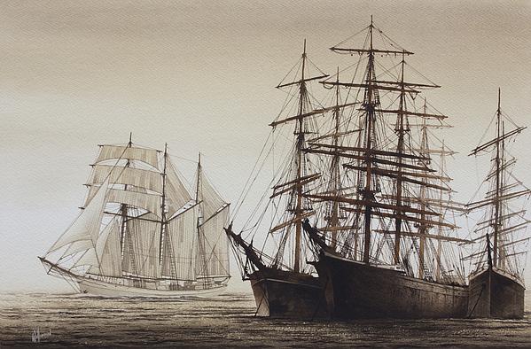 Sailing Ships Print by James Williamson