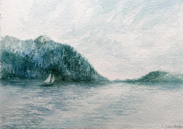 Sailing Sound 2 Print by Aurora Jenson