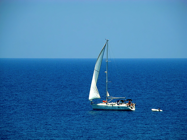 Sailing The Deep Blue Sea Print by Sue Melvin