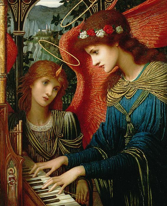 Saint Cecilia Print by John Melhuish Strukdwic