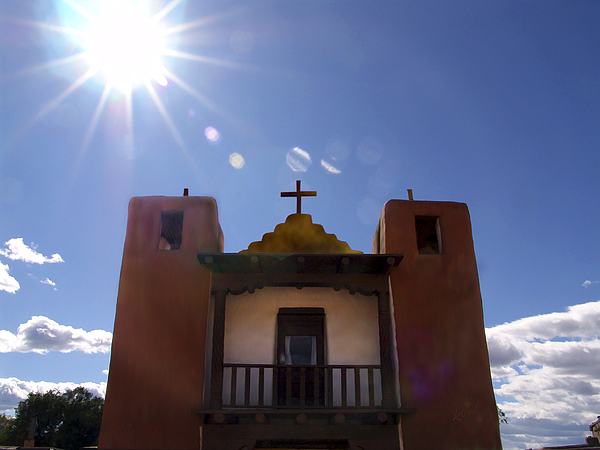 Saint Jeromes Chapel Taos Pueblo Print by Kurt Van Wagner