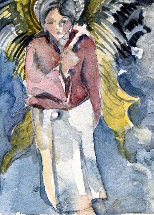 Saint Matthew Print by Mindy Newman