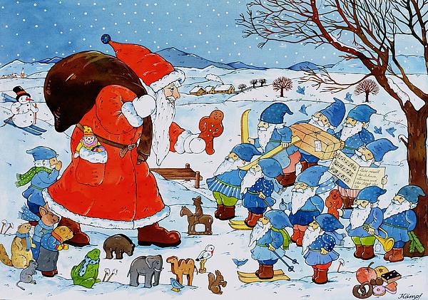 Saint Nicholas Print by Christian Kaempf