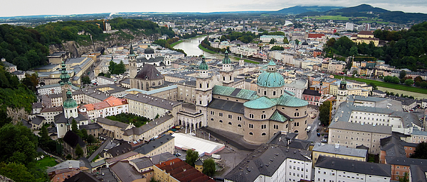 Salzburg Panoramic Print by Adam Romanowicz