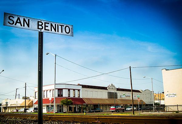 San Benito Railroad Sign By Joel Menchaca