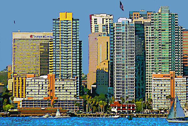 San Diego Downtown Living - Bayside Print by Russ Harris