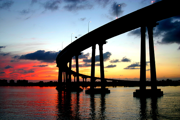 San Diego Sunset Print by Scott Brown