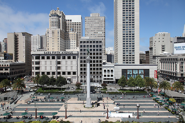 San Francisco - Union Square - 5d17938 Print by Wingsdomain Art and Photography