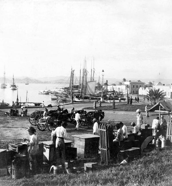 San Juan Harbor - Puerto Rico - C 1900 Print by International  Images