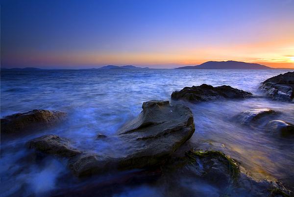 San Juan Sunset Print by Mike  Dawson