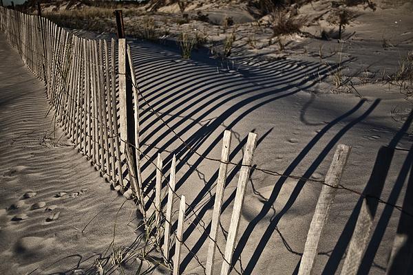 Sand Fence Print by Joel P Black