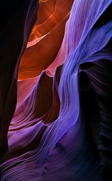 Sandstone Cascade Print by Mike  Dawson