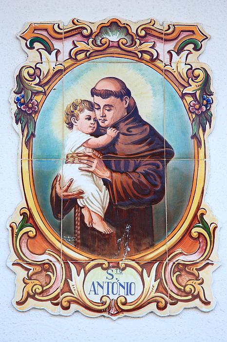 Santo Antonio De Lisboa Print by Gaspar Avila