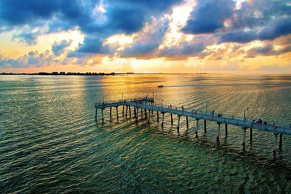 Sarasota fishing pier by karolina borkowski for Sarasota fishing pier