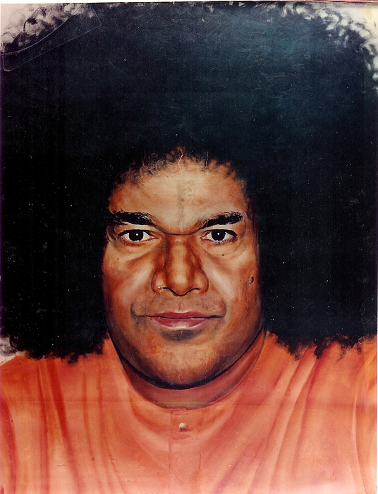 Sathya Sai Baba- Full Face Print by Anne Provost