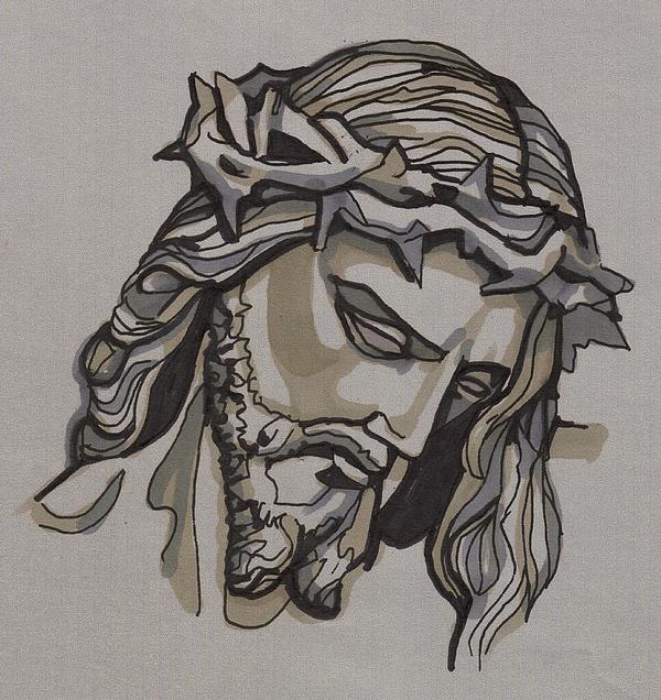 Saviour No 3 Print by Edward Ruth