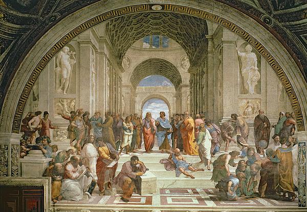 School Of Athens From The Stanza Della Segnatura Print by Raphael