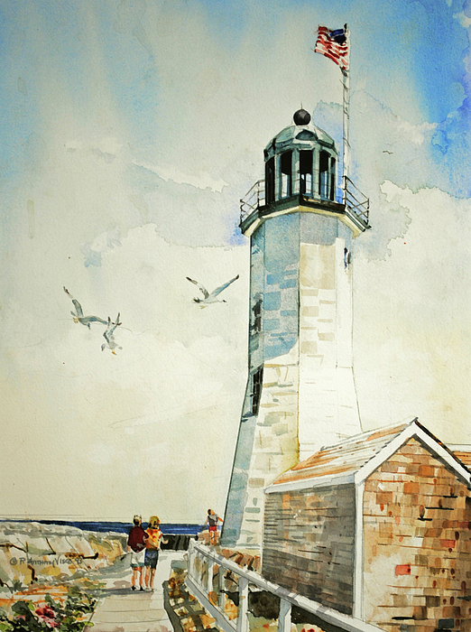 Scituate Light Print by P Anthony Visco