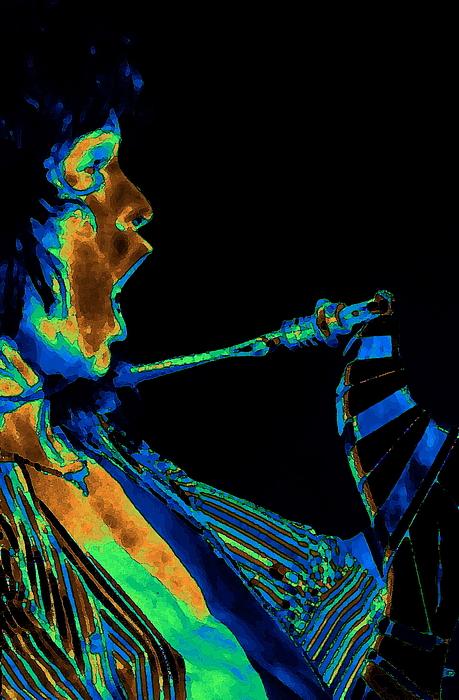 Screaming Cosmic Guitar Print by Ben Upham