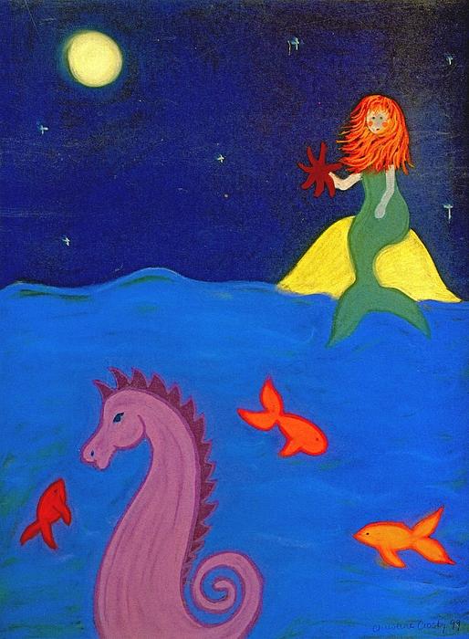 Sea Wishes Print by Christine Crosby