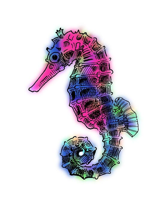 Seahorse Colorful by Masha Batkova