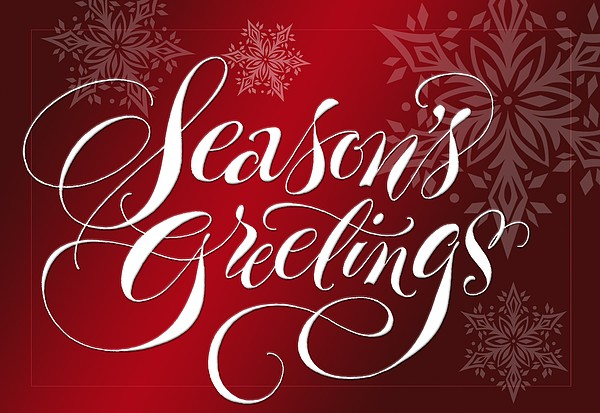Seasons Greetings Lettering Print by Gillham Studios