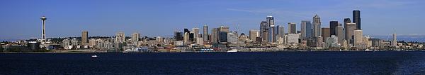Seattle Panoramic Print by Adam Romanowicz
