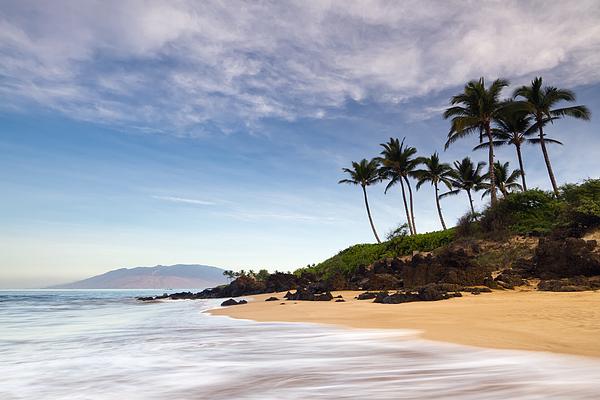 Secret Beach Maui Sunrise Print by Dustin K Ryan