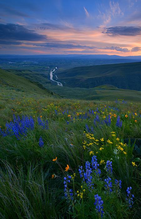 Selah Sunset Print by Mike  Dawson