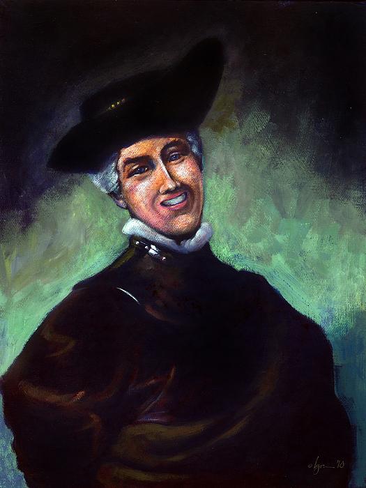 Self Portrait A La Rembrandt Print by Angela Treat Lyon
