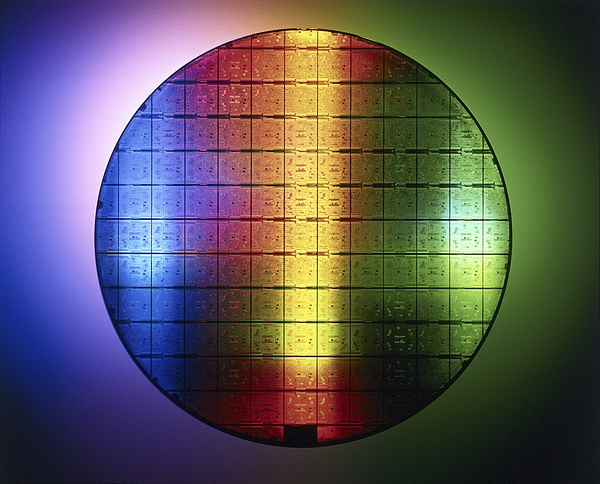 Semiconductor Wafer Print by Pasieka