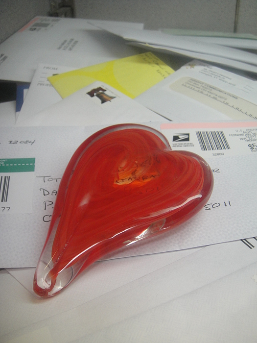 Sending You My Heart Through The Mail Print by WaLdEmAr BoRrErO