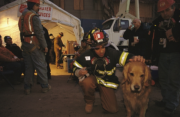 September 11th Rescue Workers Receive Print by Ira Block