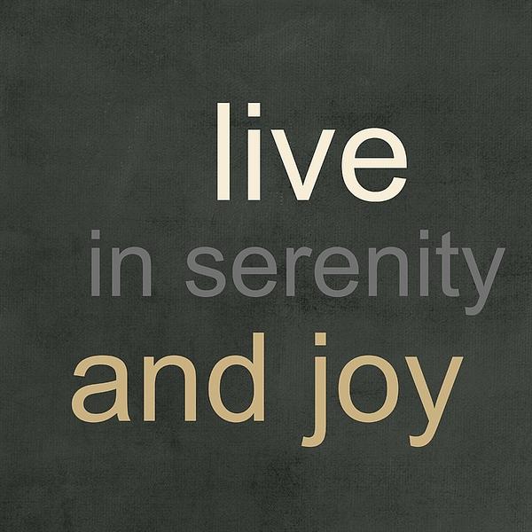 Serenity And Joy Print by Linda Woods