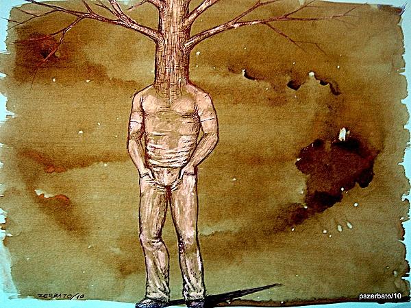 Series Trees Drought Print by Paulo Zerbato