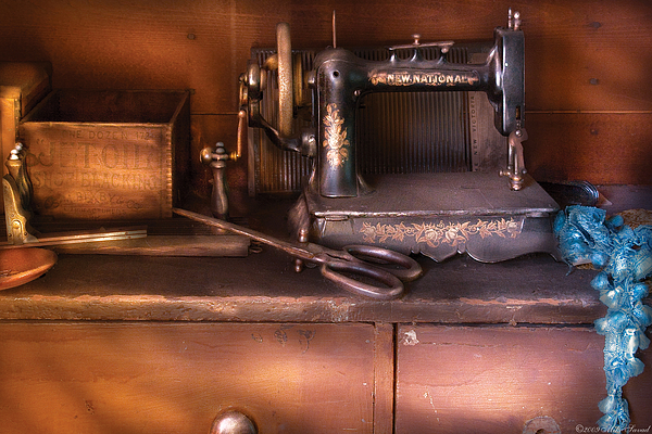 Sewing - New National Sewing Machine Print by Mike Savad