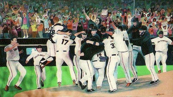 Sf Giants 2010 World Series Championship Celebration Print by Pete  TSouvas