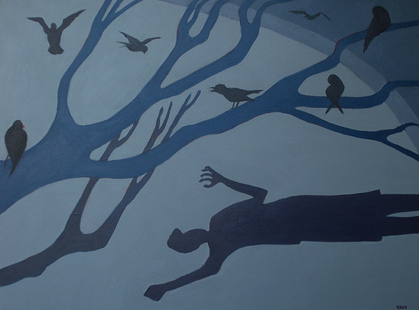 Shadows Move Among Us Print by Renee Kahn
