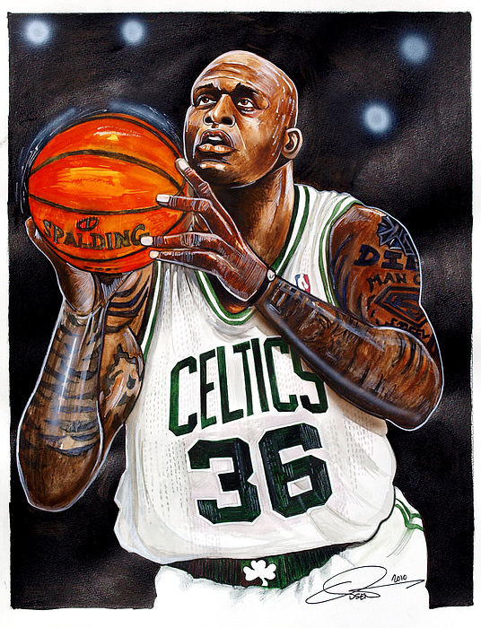 Shaquille O'neal Print by Dave Olsen
