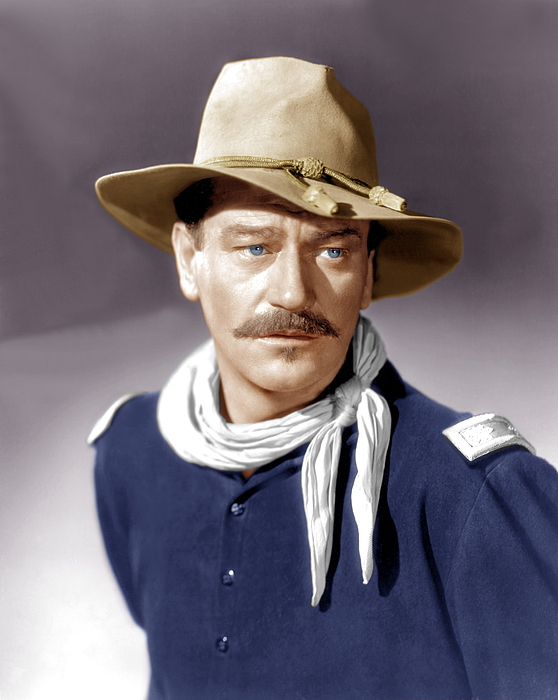 She Wore A Yellow Ribbon, John Wayne Print by Everett