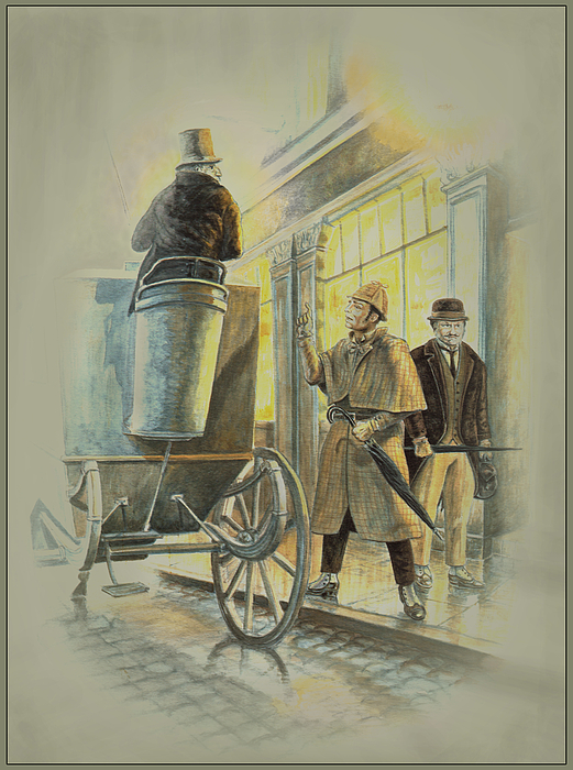 Sherlock Holmes At The Northumberland Print by Tony Hough