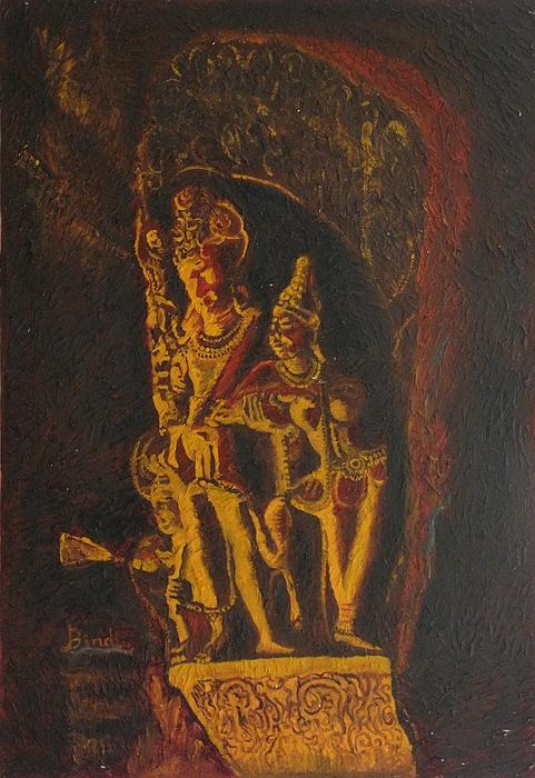 Shiva Parvati Print by Bindu Bajaj