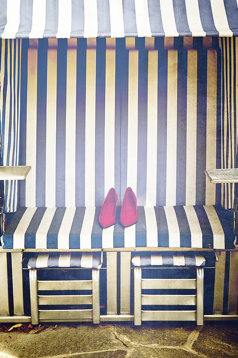 Shoes In A Beach Chair Print by Joana Kruse