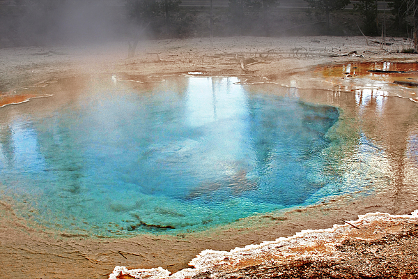 Silex Spring Fountain Paint Pot Yellowstone National Park Wy Print by Christine Till