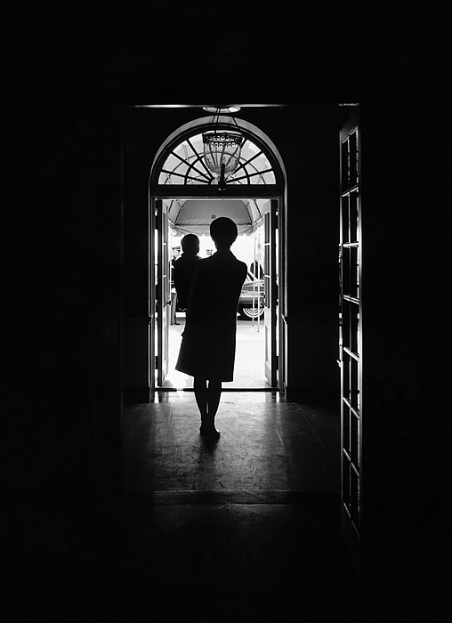 Silhouette Portrait Of Jacqueline Print by Everett